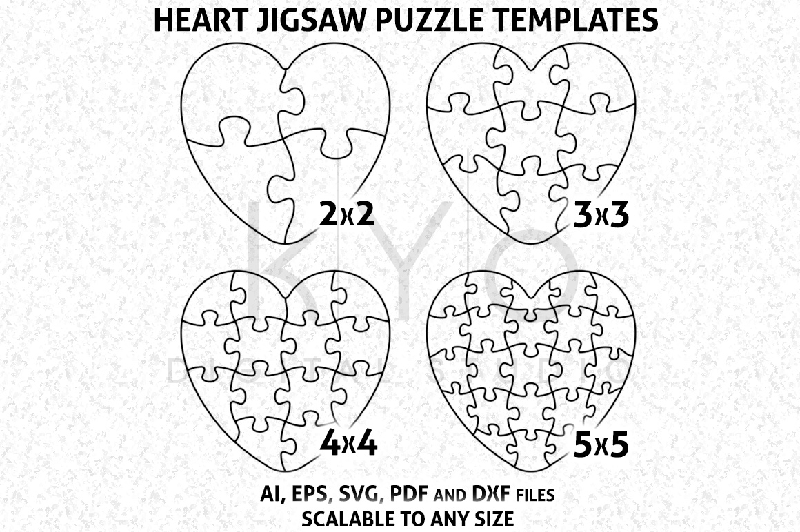 heart shape jigsaw puzzle template ai e design bundles rh designbundles net heart puzzle piece template love heart puzzle template