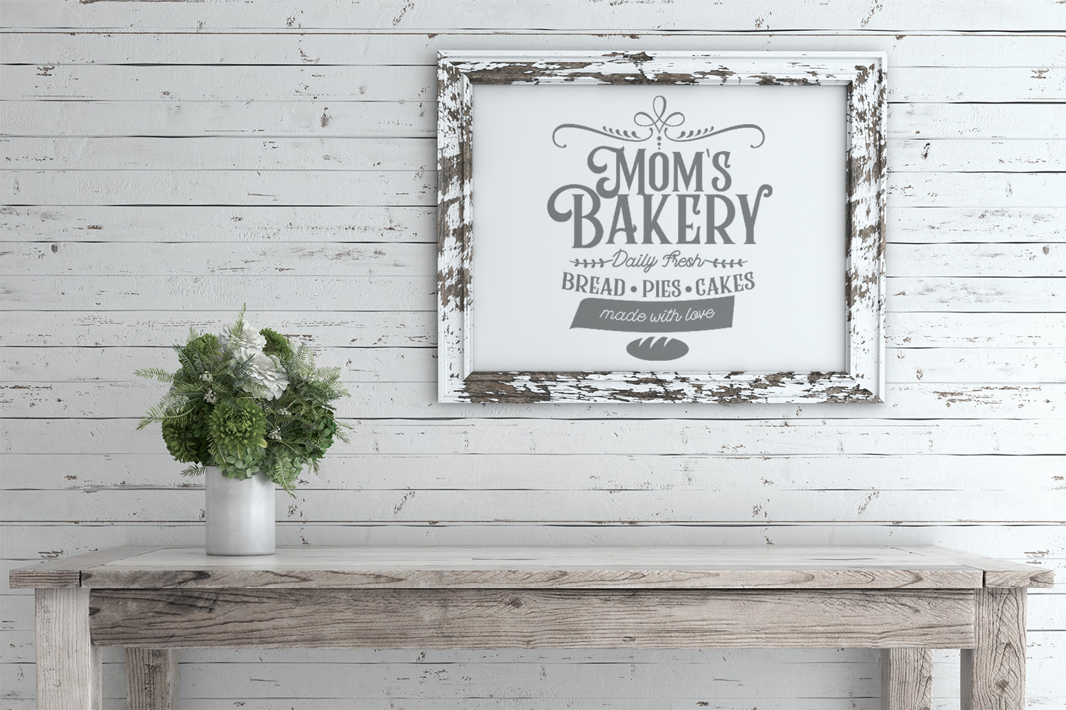 Mom's Bakery Vintage Sign SVG example image 2