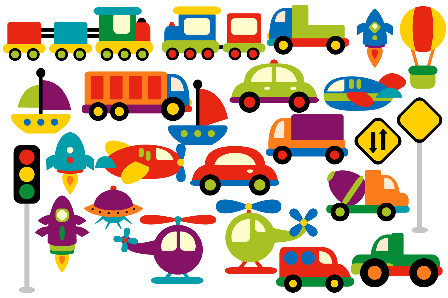 Brand-new Transportation clipart graphics (water, | Design Bundles GJ15
