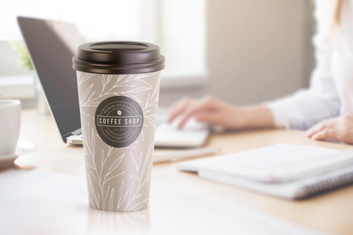 Coffee Cup Animated Mockups Bundle (Coffe mug mock up, cofee cup mockup, tea take away cup mock-up) example image 12