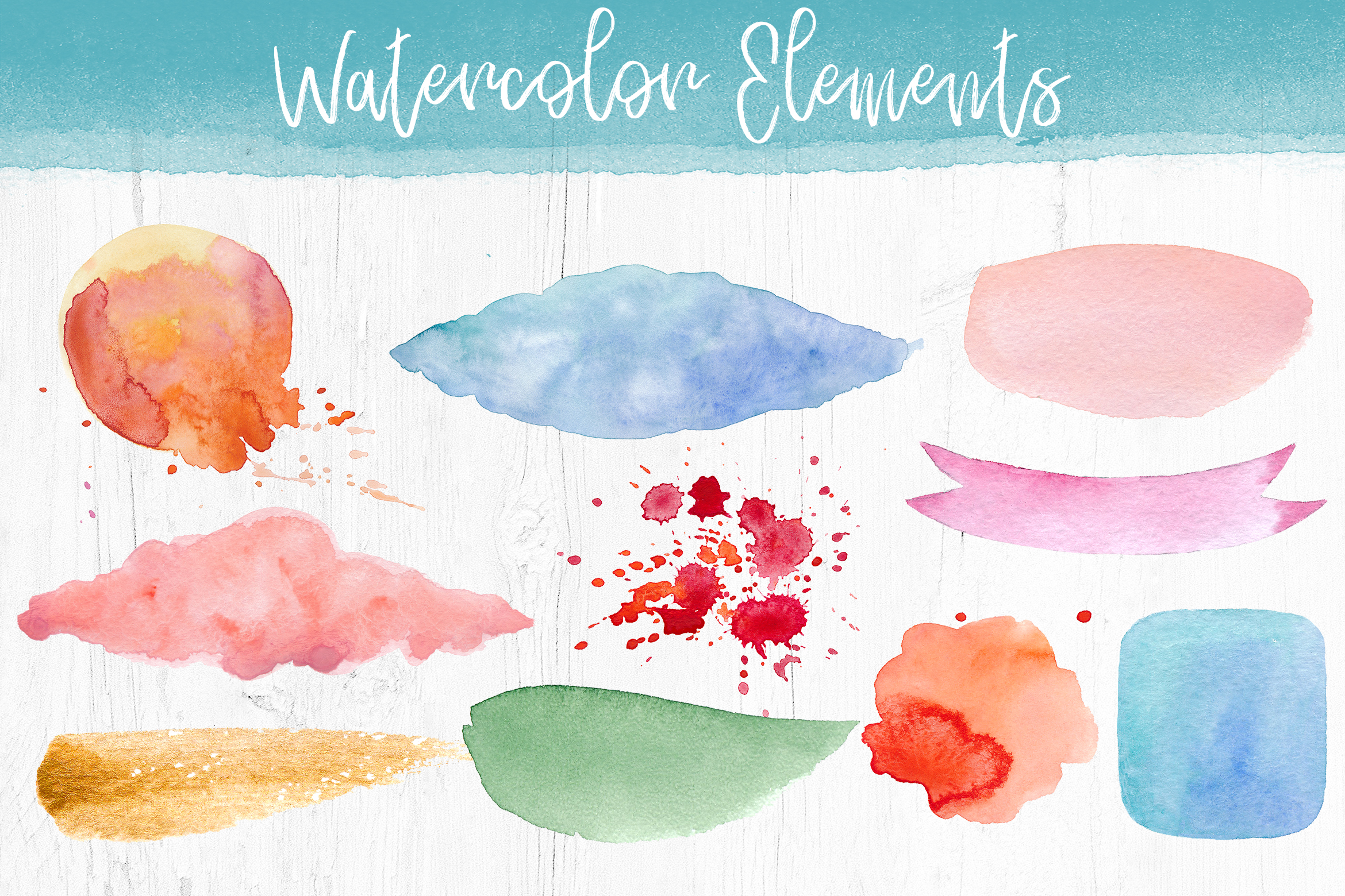 Watercolor Pack. Textures and Logos example image 2