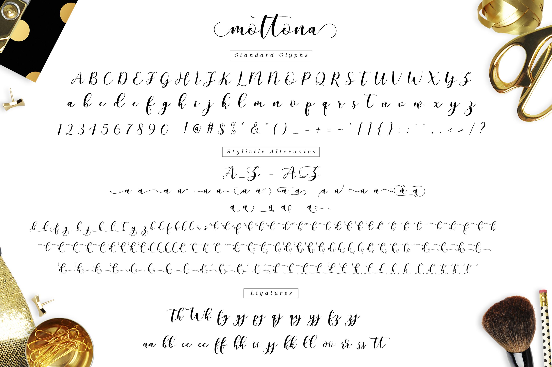 Mottona Script example image 7