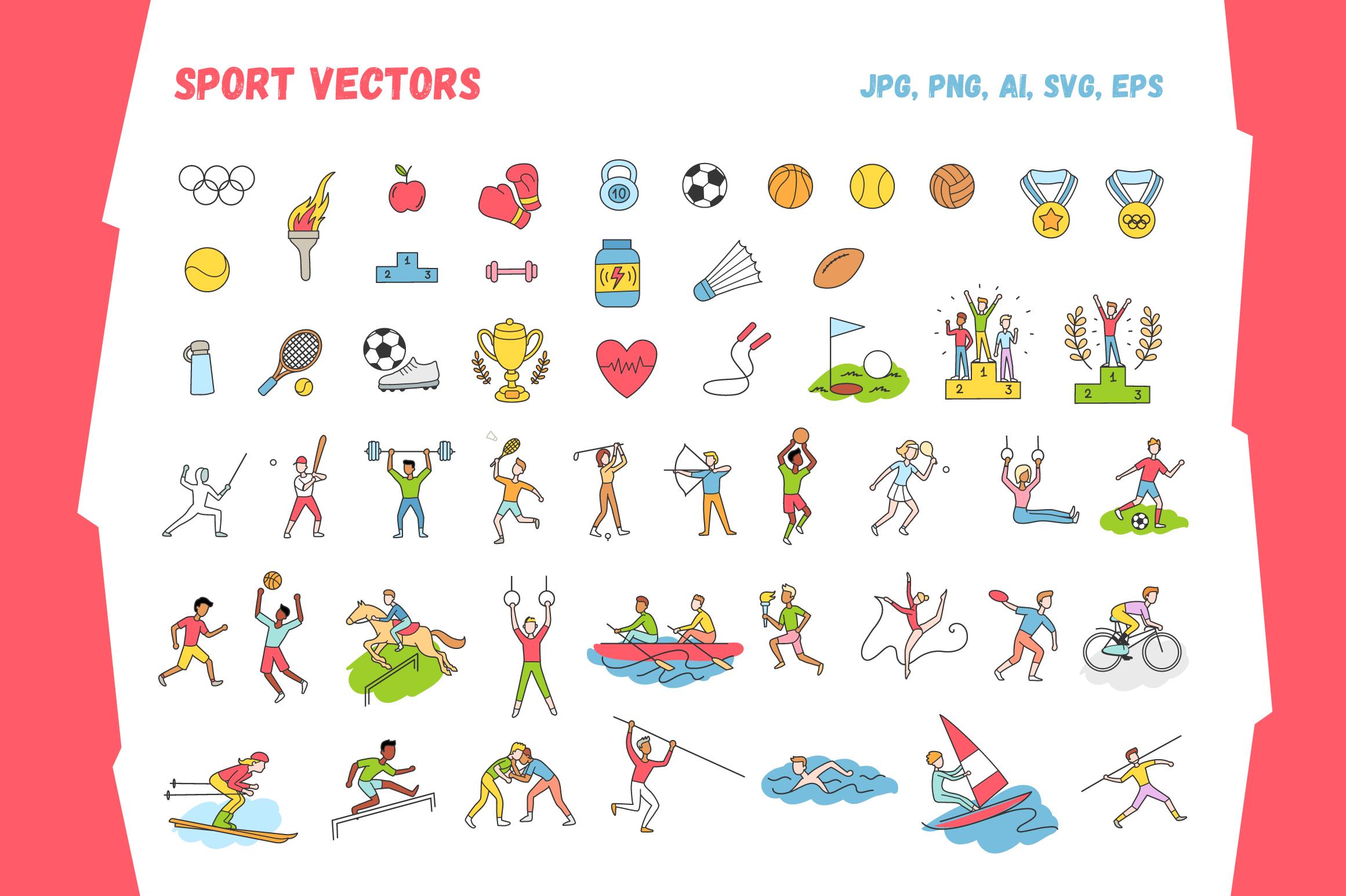 Sports Vectors  example image 2