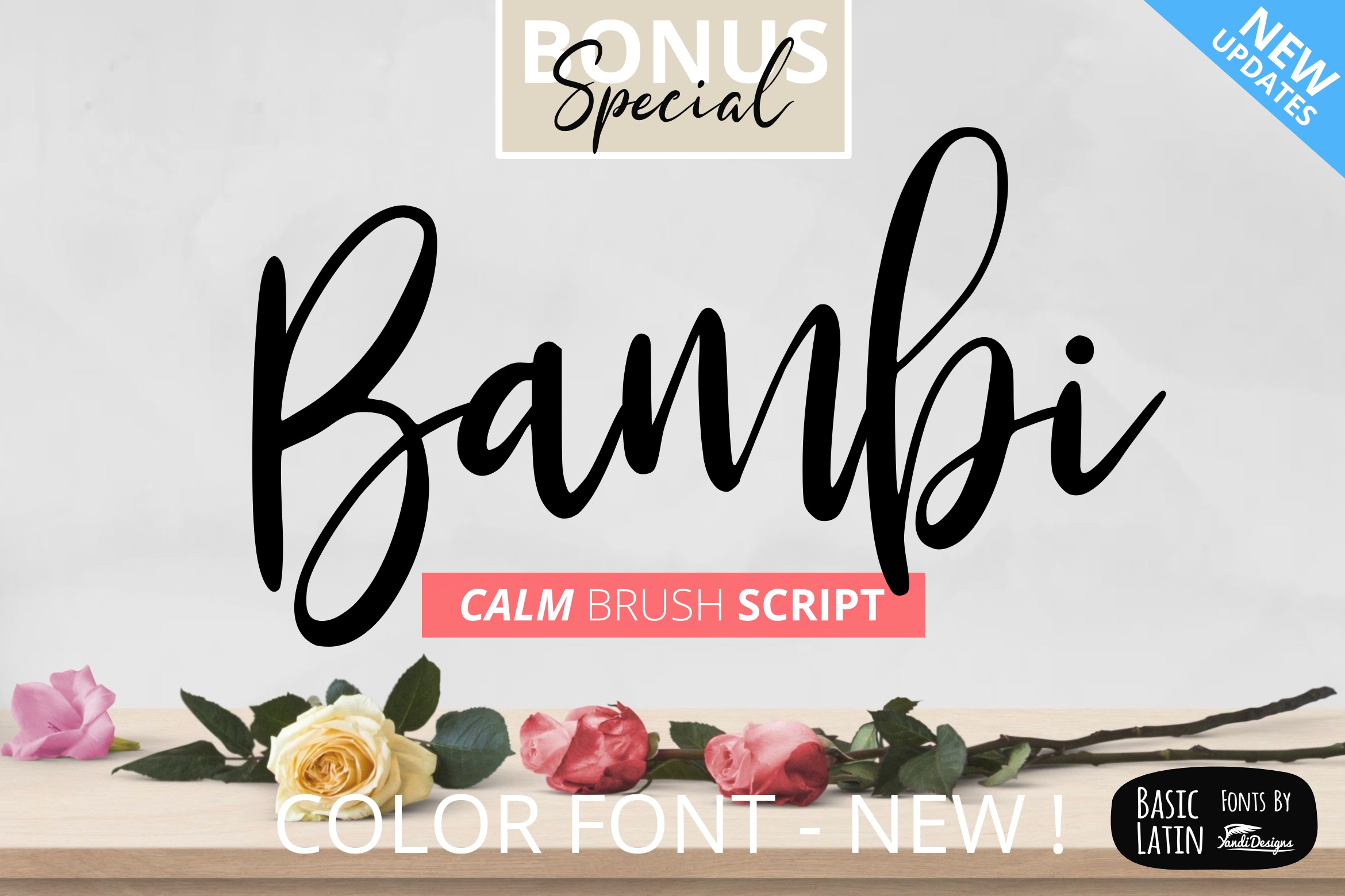 Bambi Font + New Extras ! example image 1