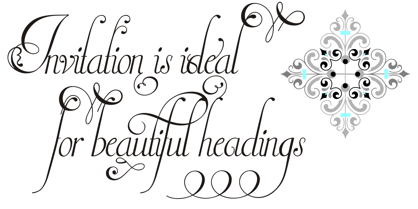 Invitation Script Pack (4 fonts) example image 22