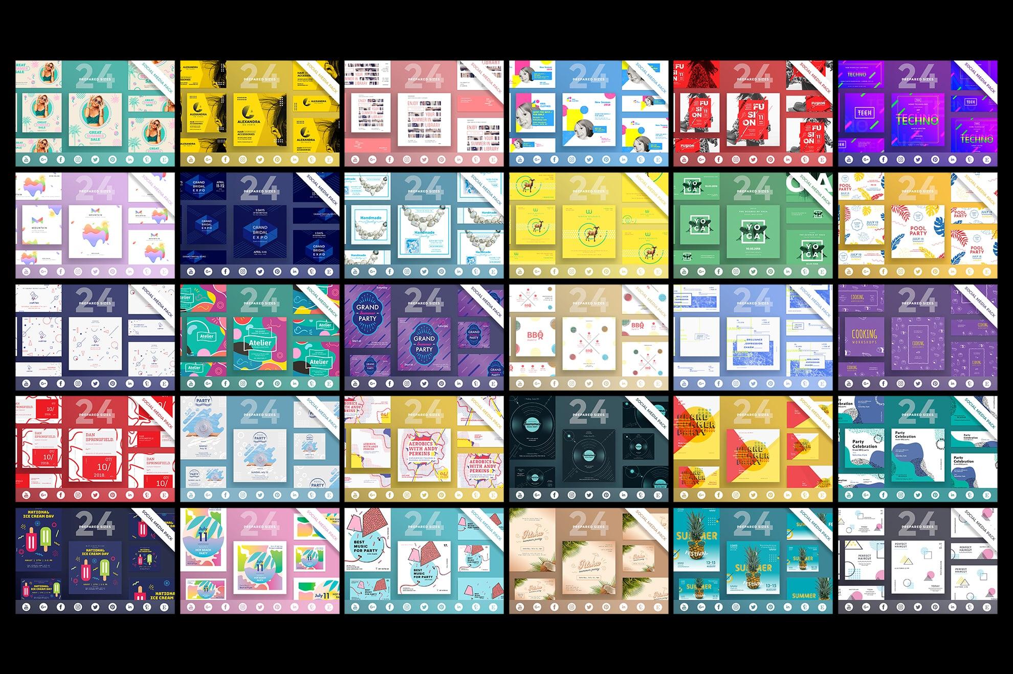 Social Media Cover & Post Design Templates Bundle SALE example image 8