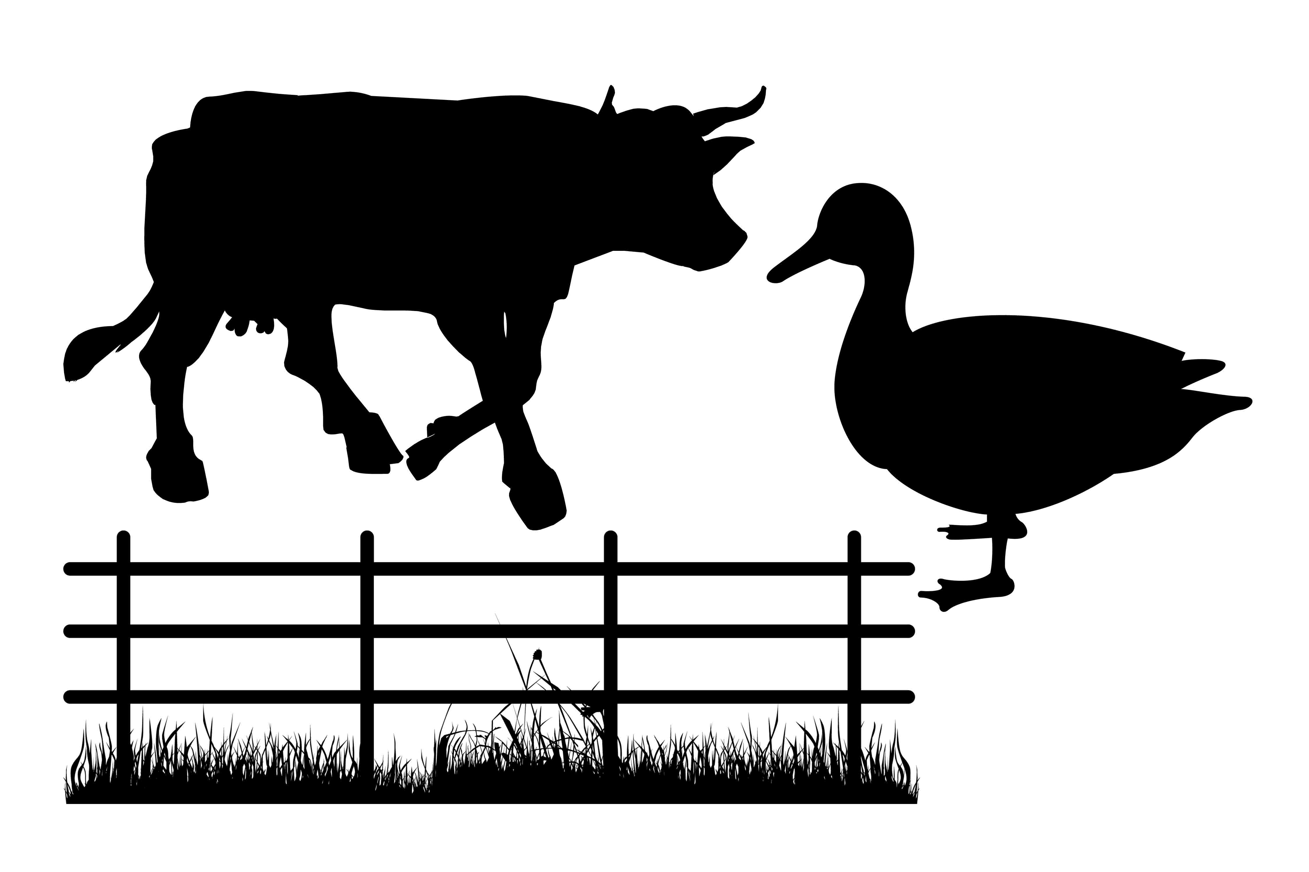 Farm animal silhouette PNG SVG EPS DXF example image 2