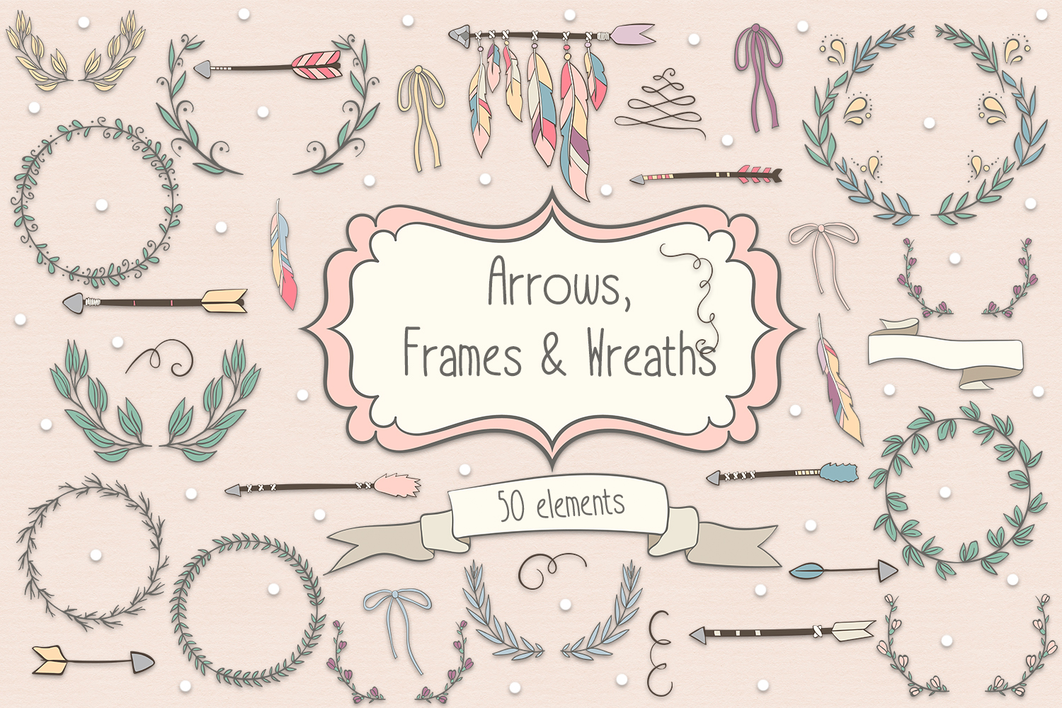 Arrows, Frames and Wreaths example image 1