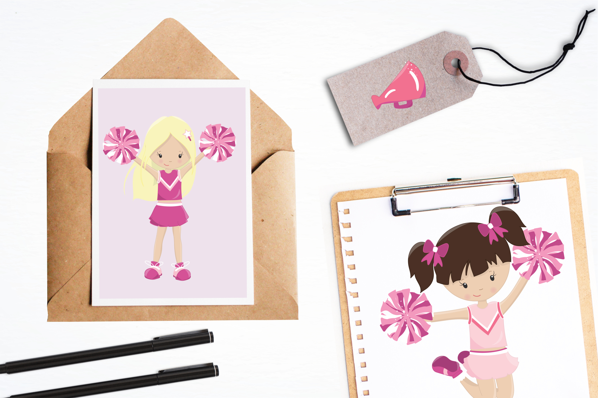 Cheerleaders graphics and illustrations example image 4