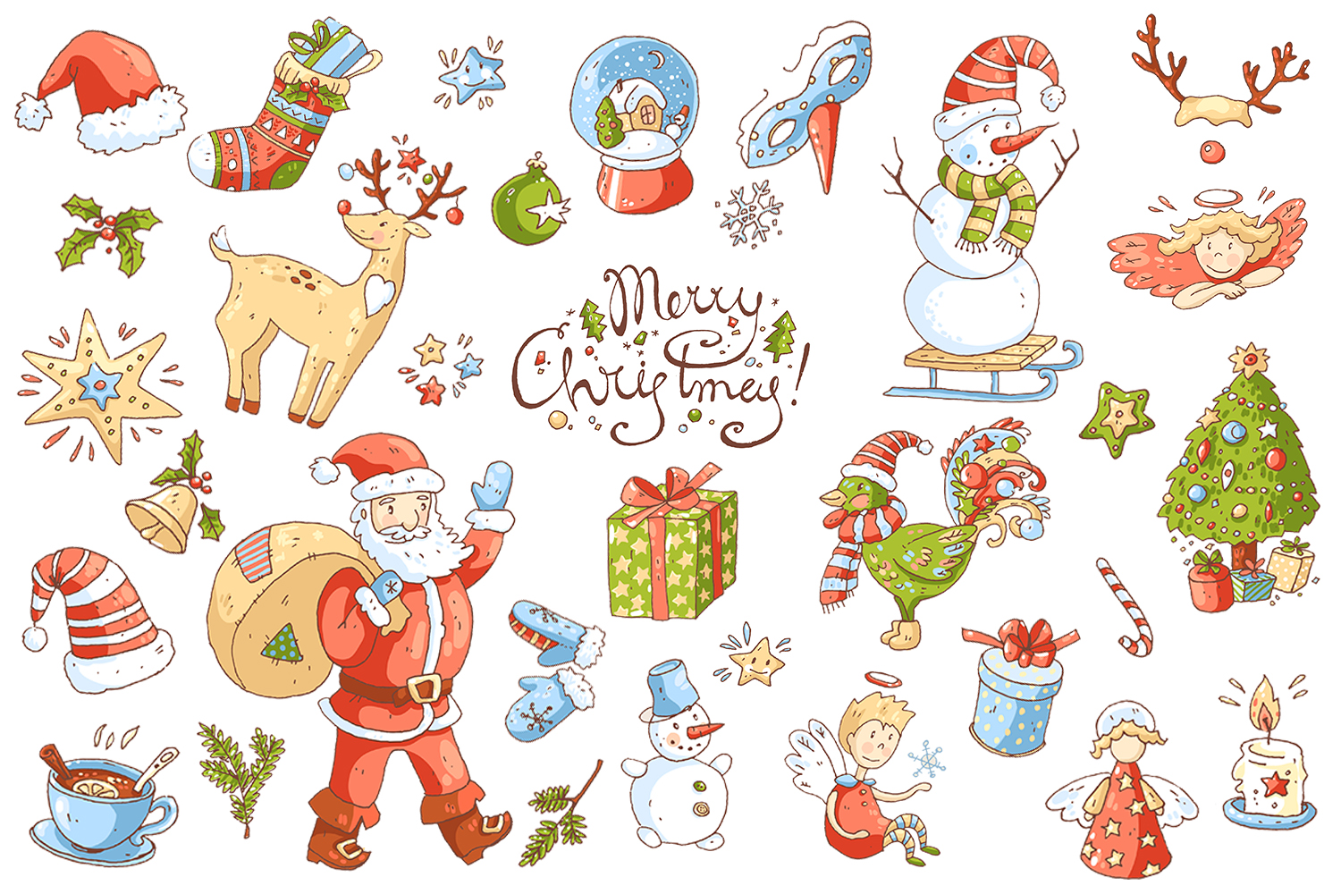 Cute doodle Xmas and New Year example image 2