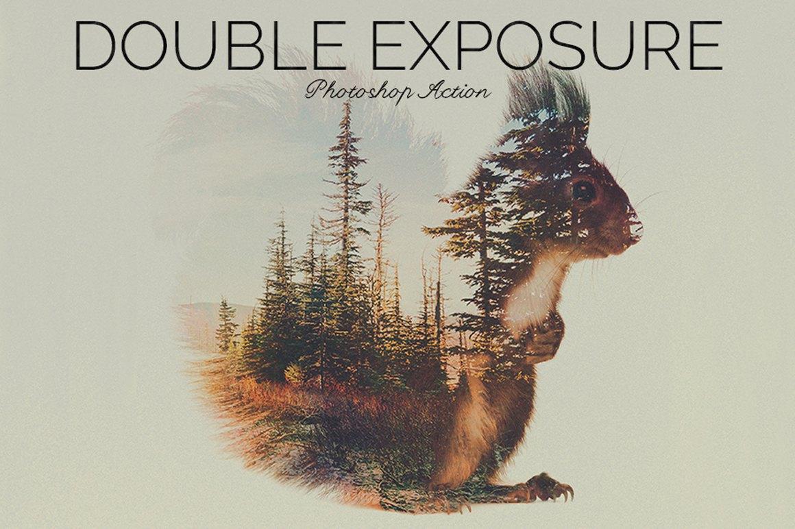 Double Exposure Photoshop Action example image 2