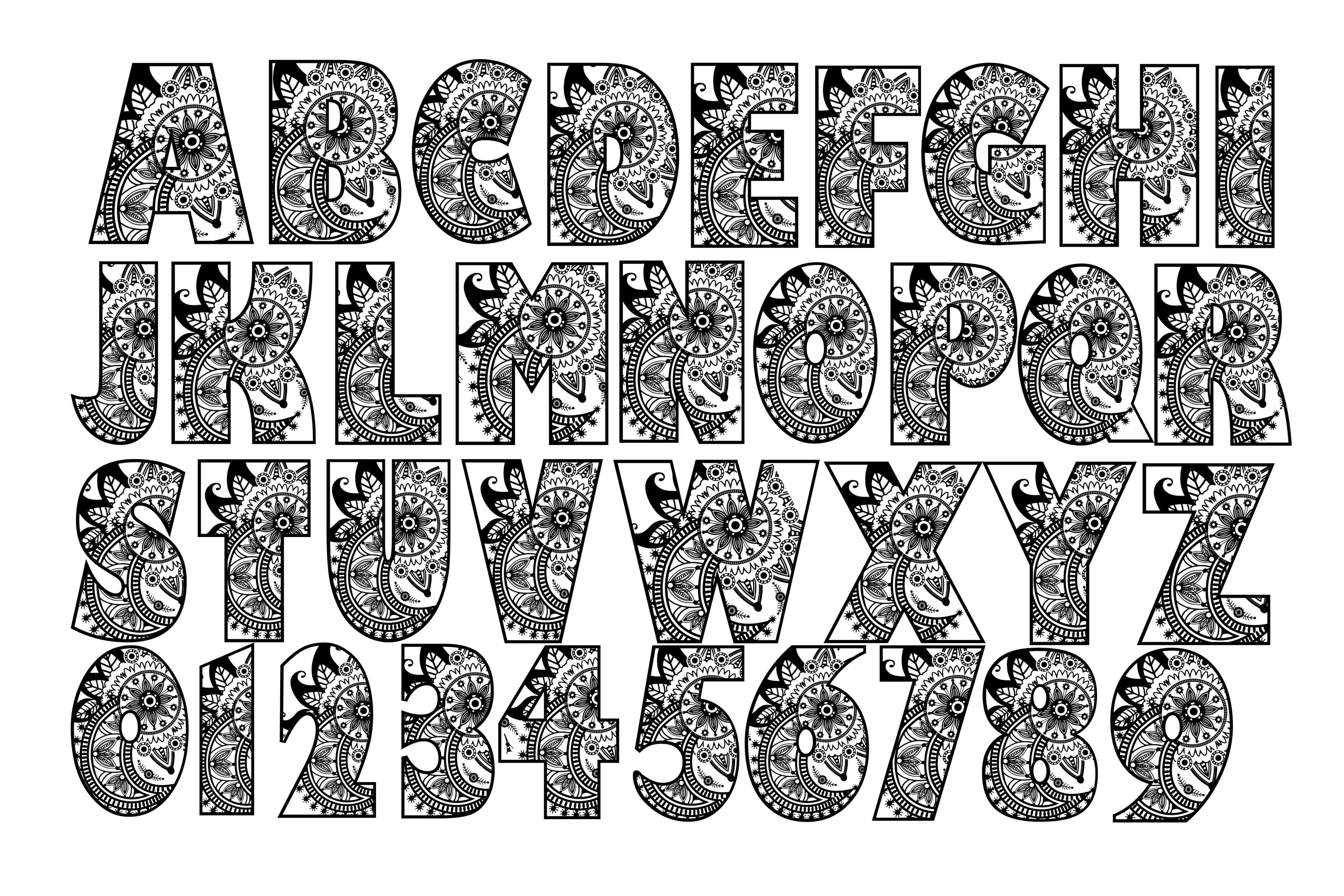 Mandala alphabet eps dxf svg png by twe design bundles mandala alphabet eps dxf svg png example image 1 thecheapjerseys Image collections