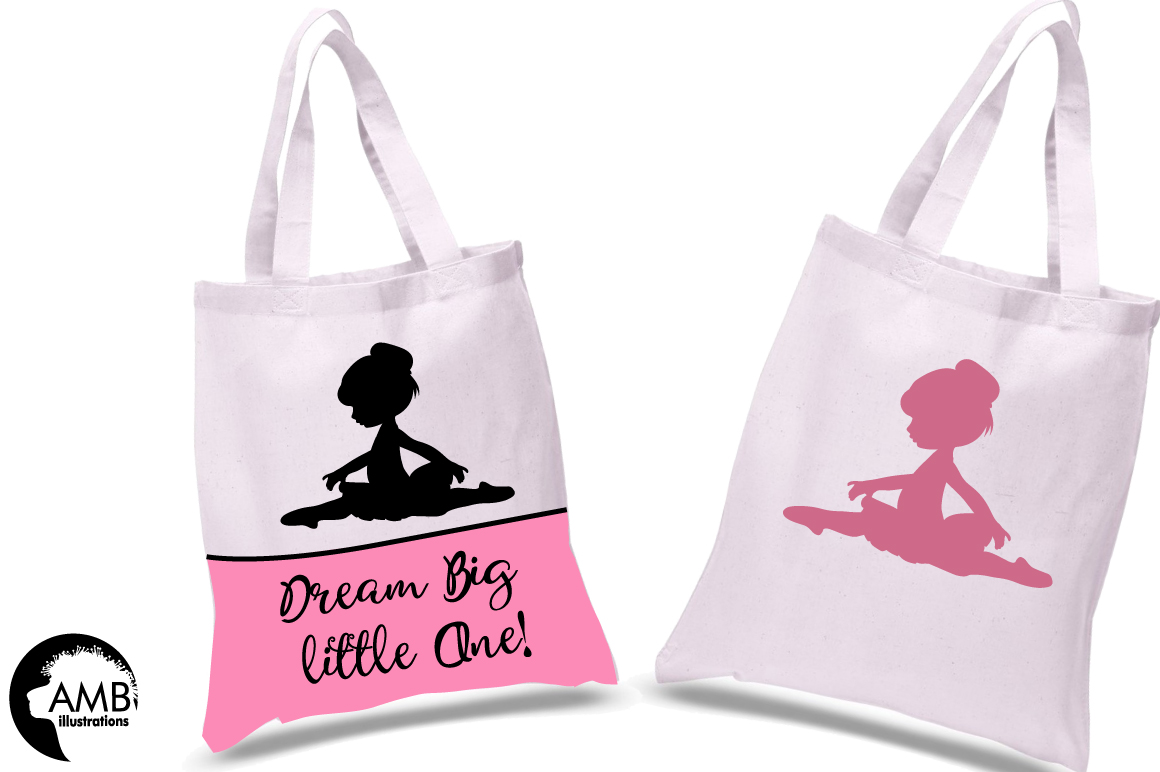 Ballerina silhouettes clipart, graphics, illustrations AMB-1584 example image 3