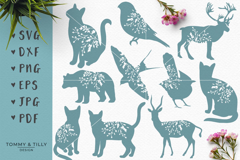 Animal Silhouettes Mega Bundle - SVG DXF PNG EPS JPG PDF Cut example image 4