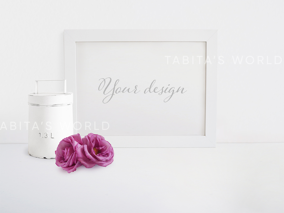 Pink Roses Quote Mockup Bundle example image 2