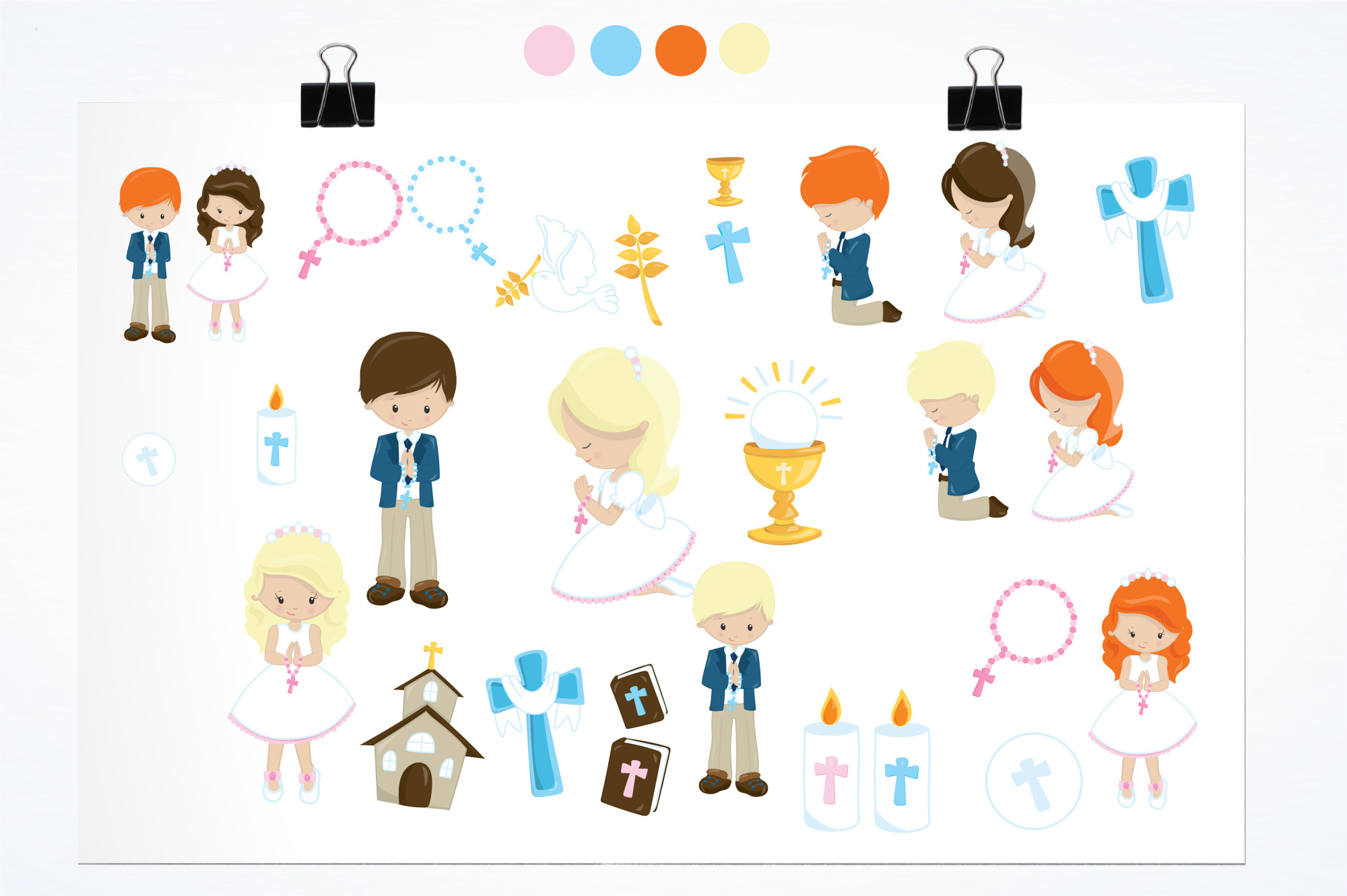 First Communion  graphics and illustrations example image 2