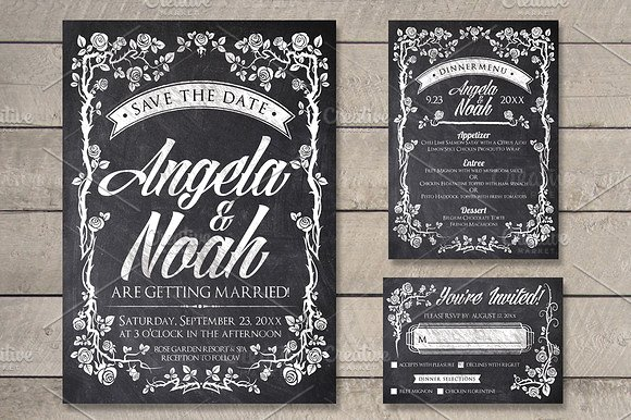 Massive Wedding Invite Bundle Flyer Save the Date Bridal Shower Party 60% Off example image 7