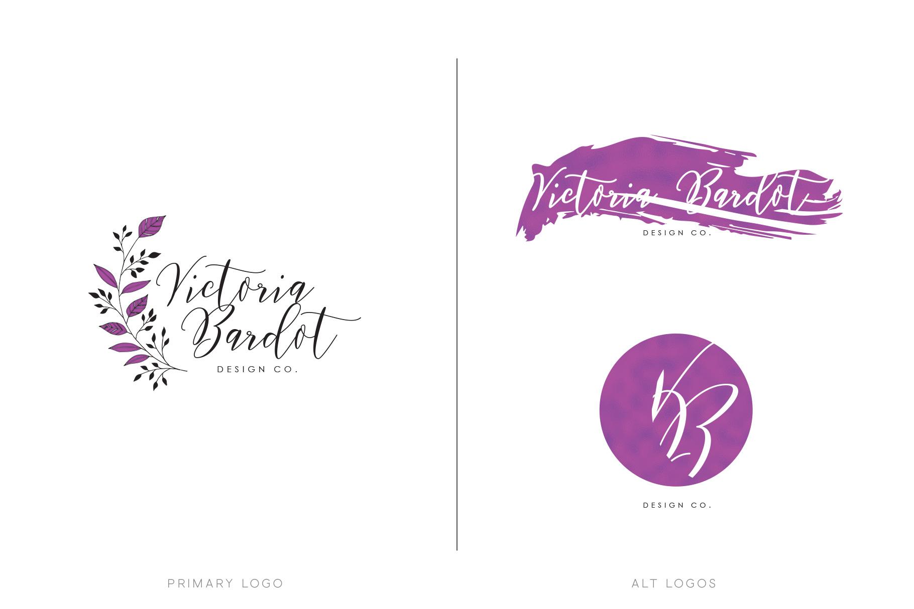 Preferred Feminine Logo & Branding Pack by Pretty | Design Bundles UC19