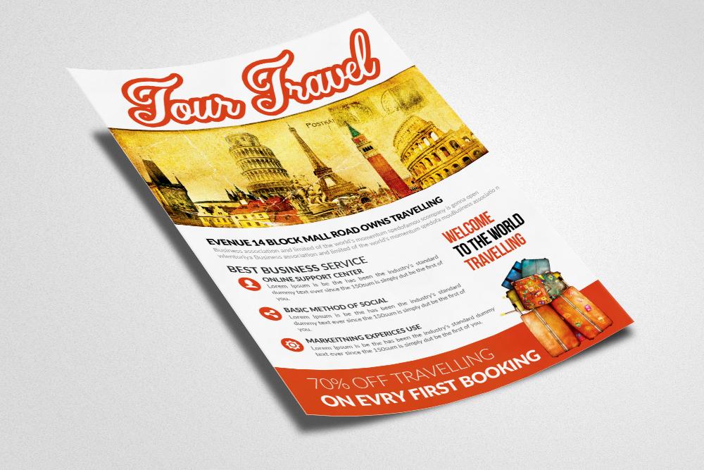 Tour Travel Agency Flyer Template By De Design Bundles