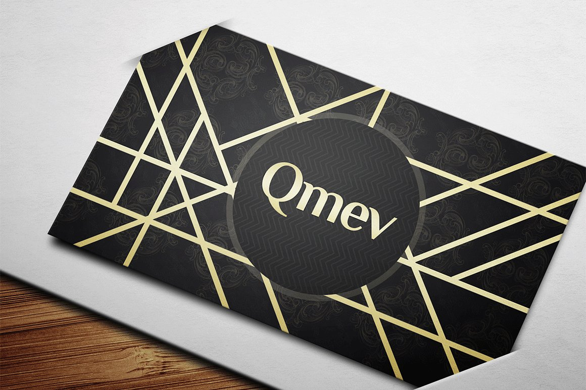 Gold and Black Business Card 2 example image 3