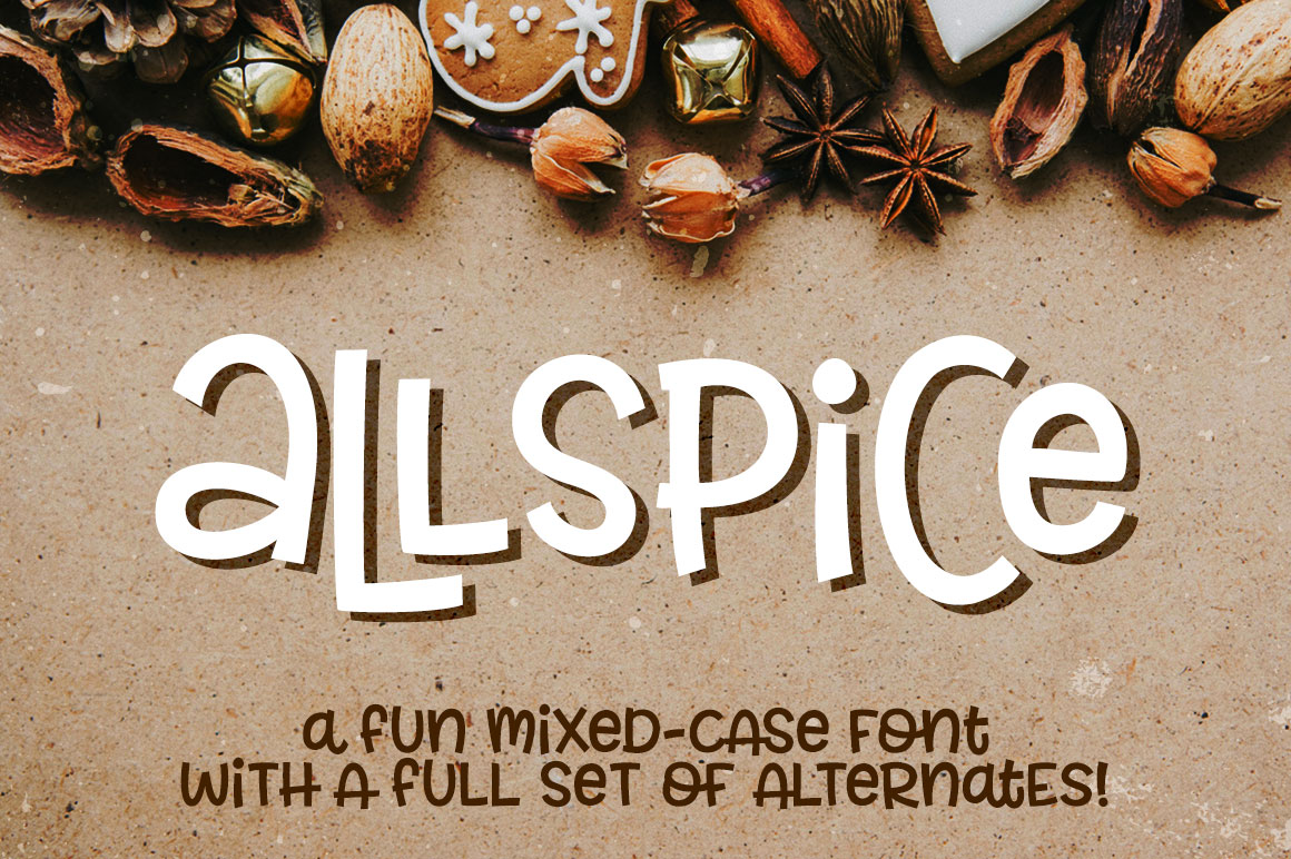 Allspice: a fun mixed-case font