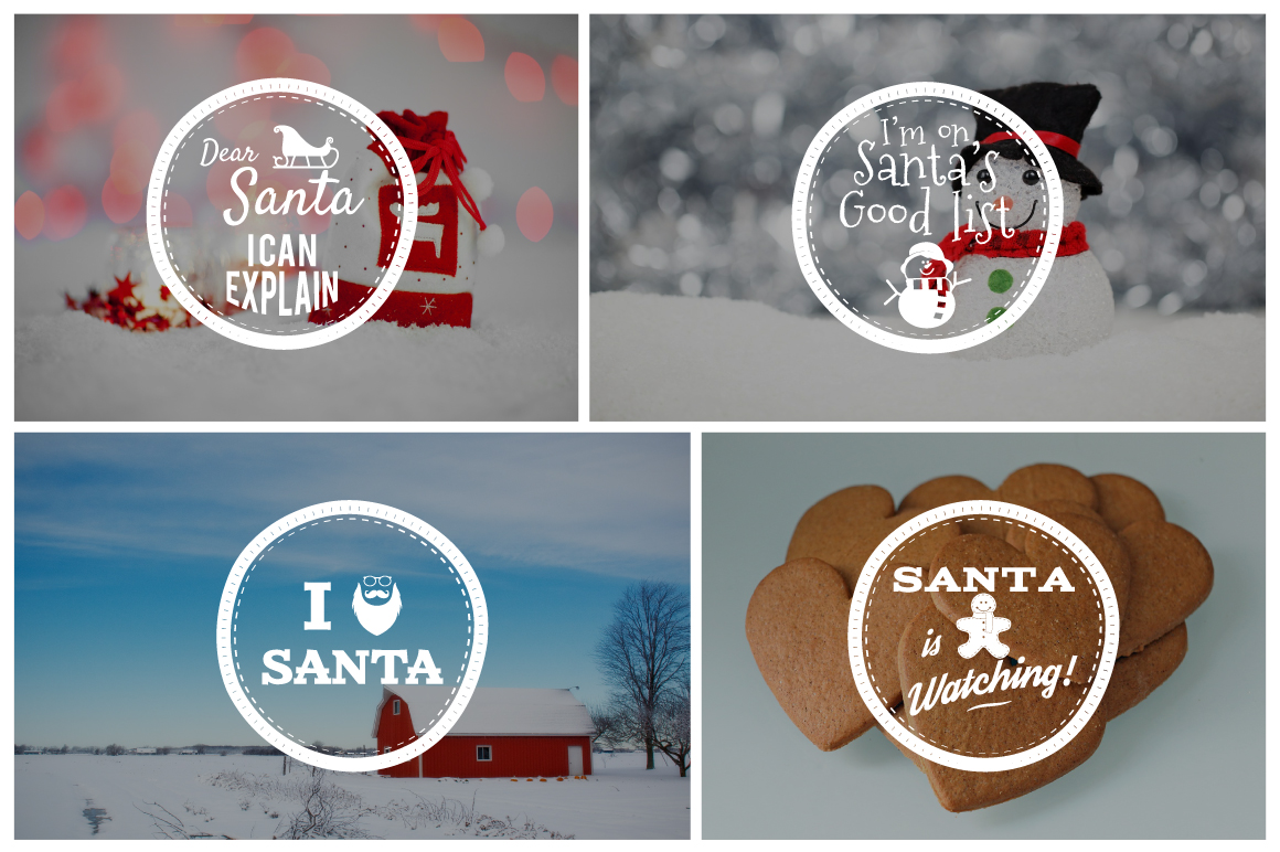 Funny Christmas Badges Collection example image 2