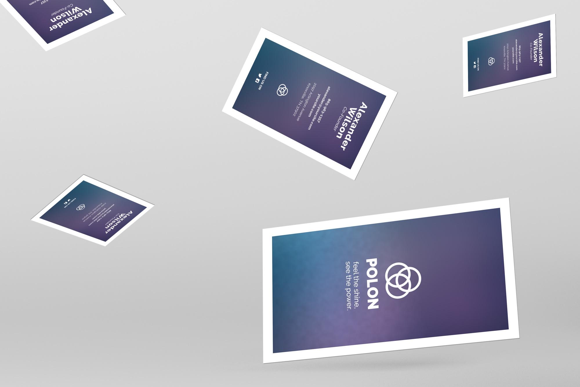 Polon - A Modern Business Card Template | Design Bundles