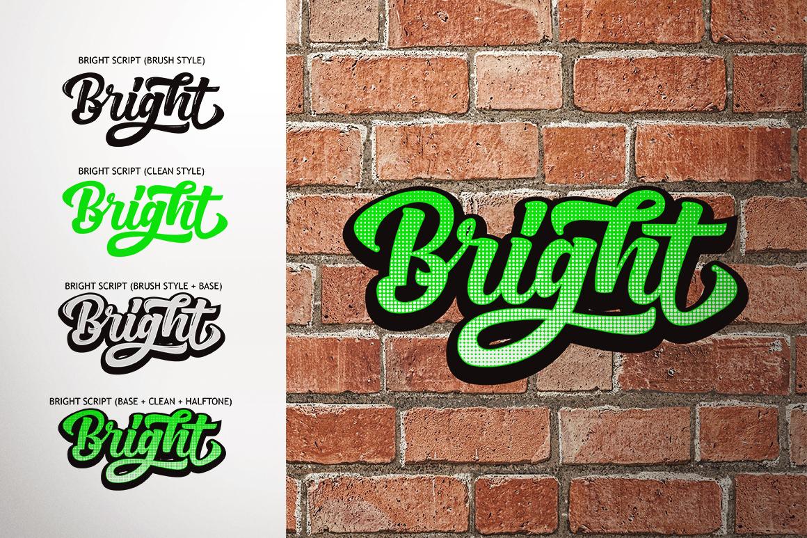 Bright Script (Fonts Trio)  example image 19