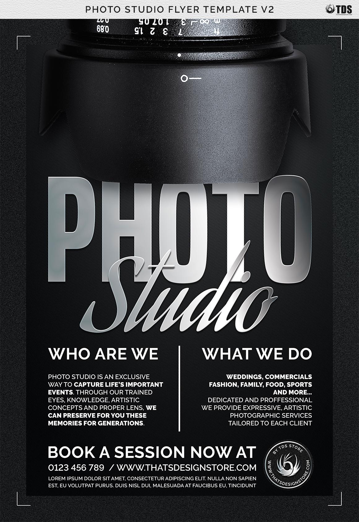 Photo Studio Flyer Template V2 example image 7