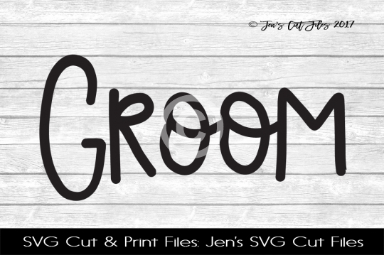 Groom SVG Cut File example image 1