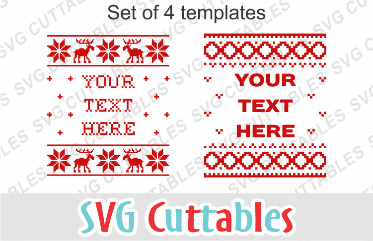 Christmas Sweater designs set of 4 example image 1