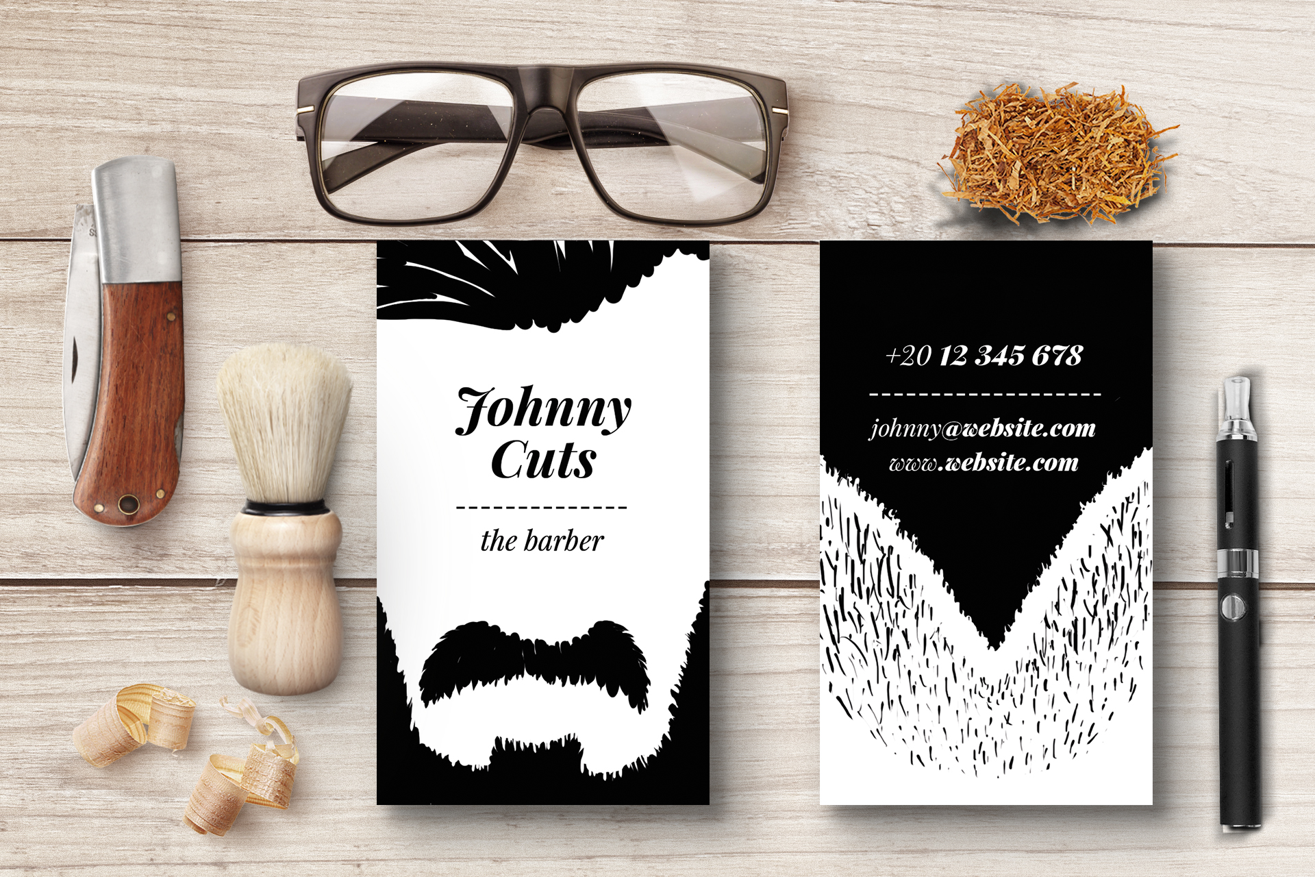 The Barber Business Cards Templates by | Design Bundles