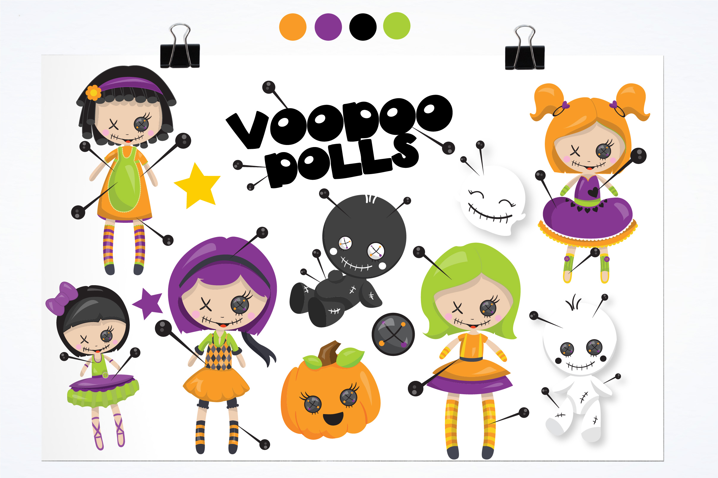 Voodoo dolls graphics and illustrations example image 2
