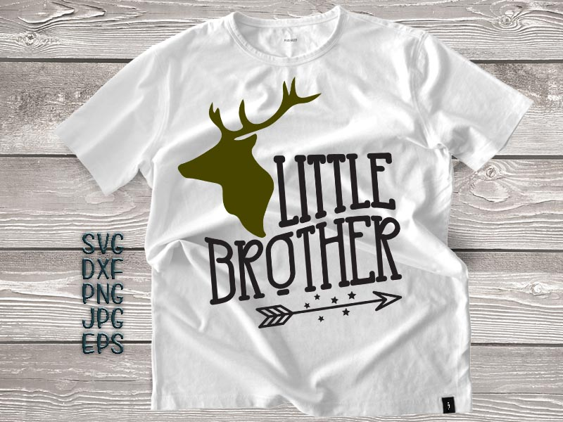 little brother svg, little brother antlers svg, arrow svg, big brother little brother svg, DXF PNG, jpeg, cricut little brother, printable example image 1