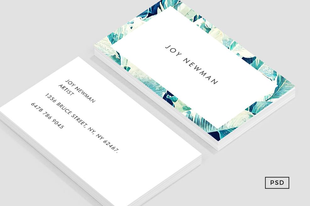 Banana Leaf Crush Business Card Templat   Design Bundles