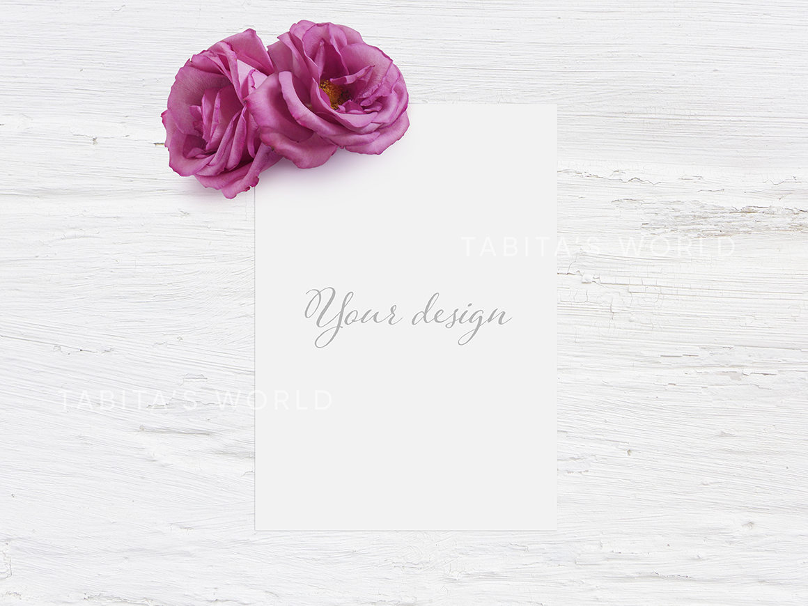 Pink Roses Quote Mockup Bundle example image 5