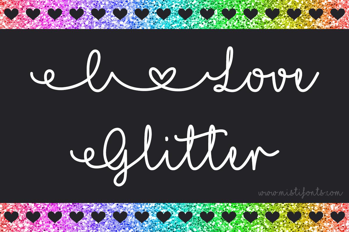 I Love Glitter example image 1