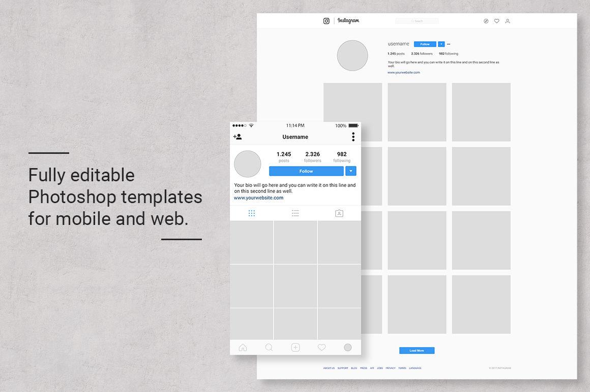 Instagram Feed Planner by Web Donut | Design Bundles