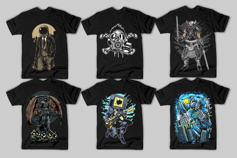 42 Tshirt Designs Bundle example image 8