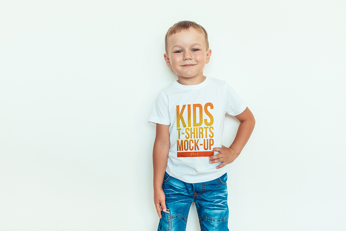 Kids T-Shirt Mock-Up Vol. 4 example image 5