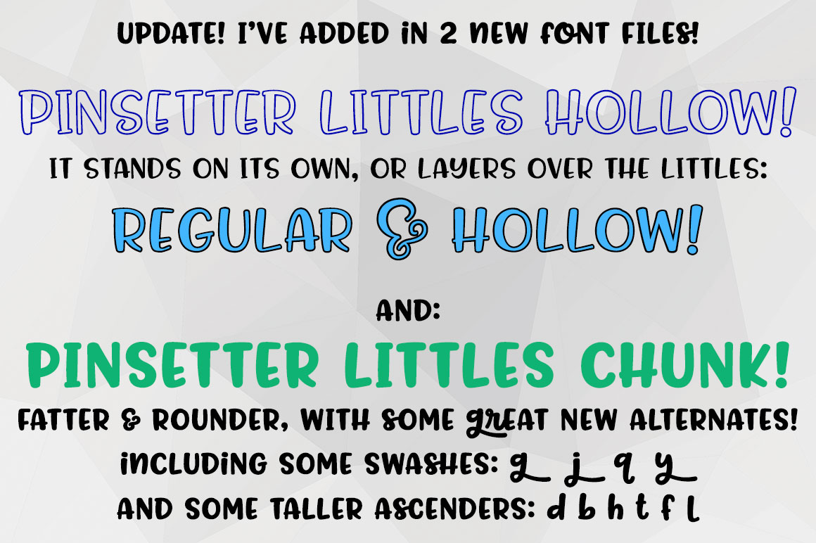 Pinsetter: three fun fonts! example image 10