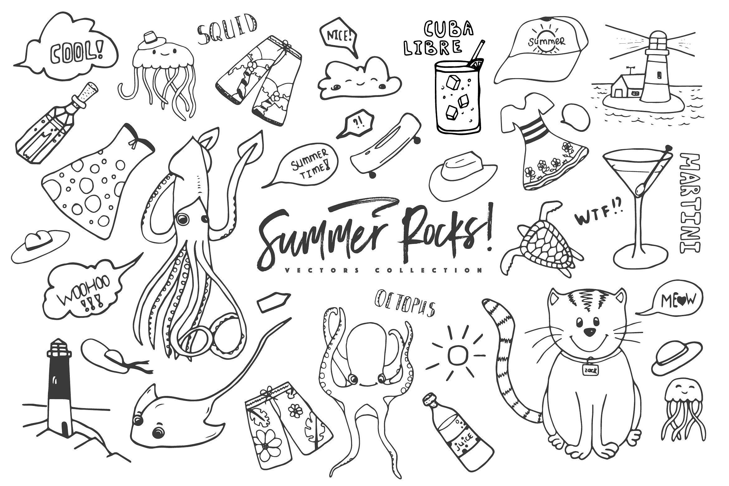 Summer Rocks! Vectors Collection example image 11