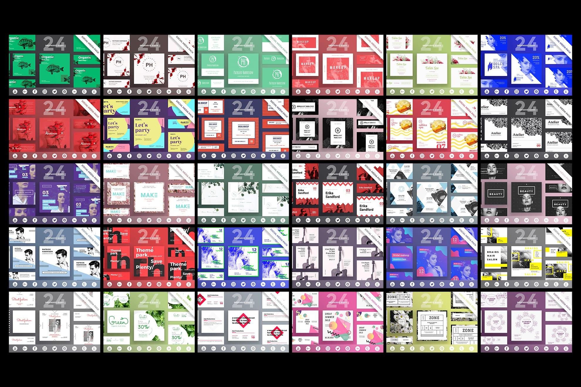 Social Media Cover & Post Design Templates Bundle SALE example image 4