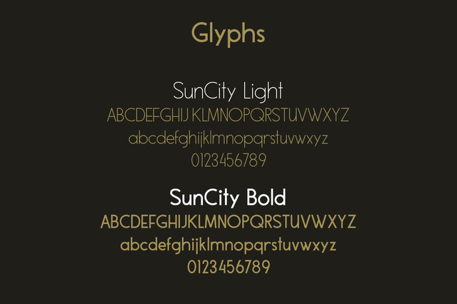 Sun City - Font Duo example image 2