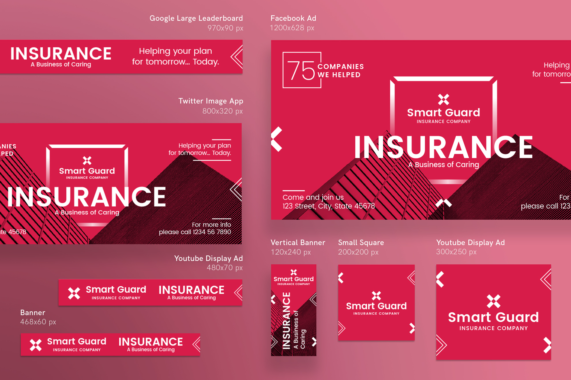 Insurance company design templates bund design bundles insurance company design templates bundle example image 12 altavistaventures