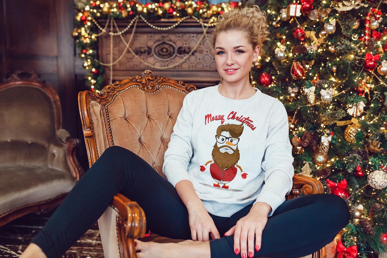 Christmas Sweatshirt Mock-Up example image 11