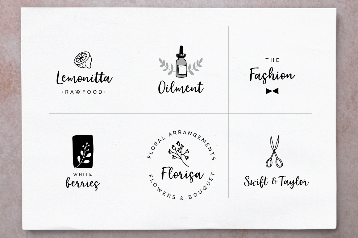 Elderflower script + logos example image 4
