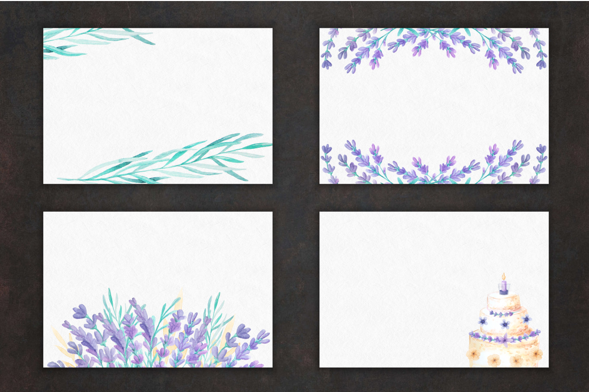 Lavender Wedding Card Set example image 3