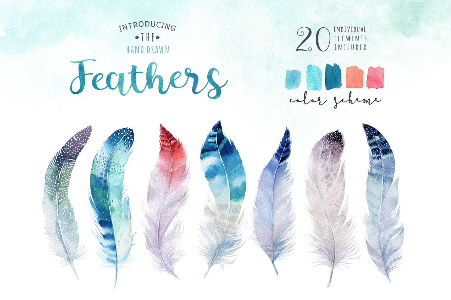 30% off Watercolor dreamcatcher III example image 5