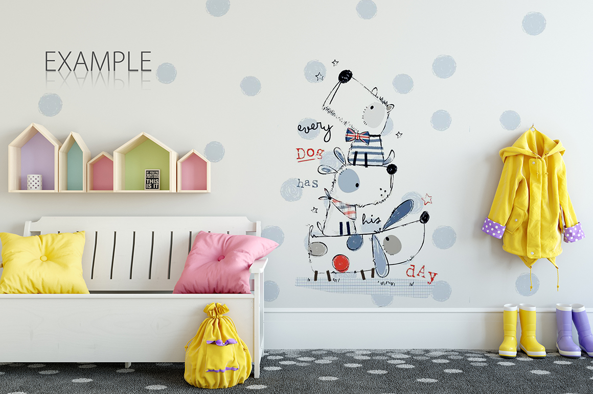 KIDS WALL & FRAMES Mockup Bundle - 2 example image 28